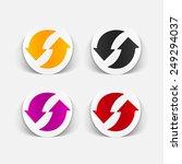 realistic design element  arrow ... | Shutterstock . vector #249294037