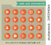 web   commercial icons on... | Shutterstock .eps vector #249294064