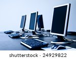 computers with lcd screens blue ... | Shutterstock . vector #24929822