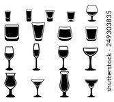 glass vector silhouette... | Shutterstock .eps vector #249303835