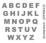 metallic letters of the... | Shutterstock . vector #249306115