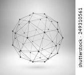wireframe mesh polygonal... | Shutterstock .eps vector #249310561