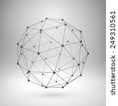 Wireframe Mesh Polygonal...