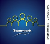 team  teamwork  leader  ... | Shutterstock .eps vector #249310591
