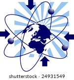 illustration of earth and... | Shutterstock .eps vector #24931549