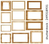 gold  picture  frame isolated... | Shutterstock . vector #249318931