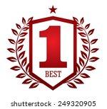 number one emblem   Shutterstock .eps vector #249320905