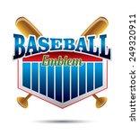 baseball emblem | Shutterstock .eps vector #249320911