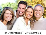 happy family over park nature... | Shutterstock . vector #249329581