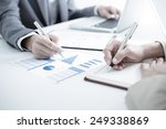 business people discussing the... | Shutterstock . vector #249338869