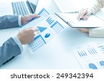 business people discussing the... | Shutterstock . vector #249342394
