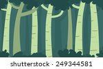 green forest with silhouette... | Shutterstock .eps vector #249344581