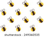 cute buzz bee seamless pattern... | Shutterstock .eps vector #249360535