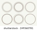 set of 6 very simple round... | Shutterstock .eps vector #249360781