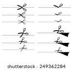 vector illustrations of set of... | Shutterstock .eps vector #249362284
