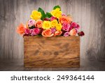 Mix Color Roses In The Box On...