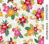 pattern of hibiscus | Shutterstock .eps vector #249370234