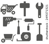 worker tools icons set.vector  | Shutterstock .eps vector #249371521