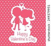illustration of lovers kissing... | Shutterstock .eps vector #249379951