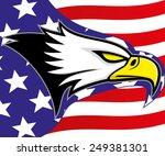 vector illustration. eagle. | Shutterstock .eps vector #249381301