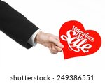 valentine's day and sale topic  ... | Shutterstock . vector #249386551