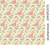 roses seamless wallpaper | Shutterstock .eps vector #249392575