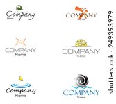 abstract logo collection.... | Shutterstock .eps vector #249393979