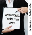 action speaks louder than words  | Shutterstock . vector #249406624