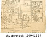 vintage electronic schematic... | Shutterstock . vector #24941539