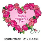 greeting card valentine's day... | Shutterstock .eps vector #249416551