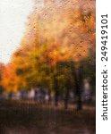 Rainy Autumn Landscape Through...