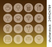 set of line icon related to... | Shutterstock .eps vector #249424789