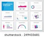 infographic presentation slide... | Shutterstock .eps vector #249433681