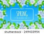 vector spring card.    Shutterstock .eps vector #249433954