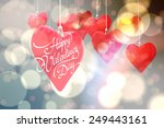 happy valentines day against... | Shutterstock . vector #249443161