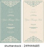 set of antique greeting cards ... | Shutterstock .eps vector #249444685