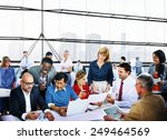business people office working... | Shutterstock . vector #249464569