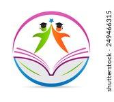 education logo vector design... | Shutterstock .eps vector #249466315