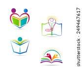 education book logo vector...   Shutterstock .eps vector #249467617