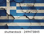 flag of greece painted on... | Shutterstock . vector #249473845