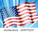 american flag background | Shutterstock .eps vector #249475237