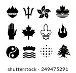 coat of arms elements set ... | Shutterstock .eps vector #249475291