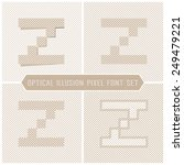 letter z   optical illusion... | Shutterstock .eps vector #249479221