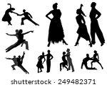 dance silhouettes black   Shutterstock .eps vector #249482371