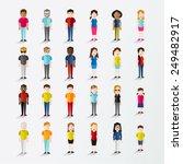 men and women people in front... | Shutterstock .eps vector #249482917