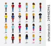 men and women people in back... | Shutterstock .eps vector #249482941
