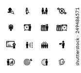 business and management icon set | Shutterstock .eps vector #249486571