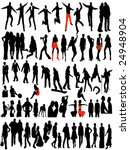 modern women and men pictures | Shutterstock .eps vector #24948904
