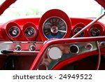 old classic car dashboard   Shutterstock . vector #24949522