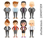 a set of characters in a flat... | Shutterstock .eps vector #249497359